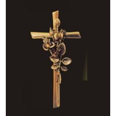 Krzyż z bukietem róż 40 cm