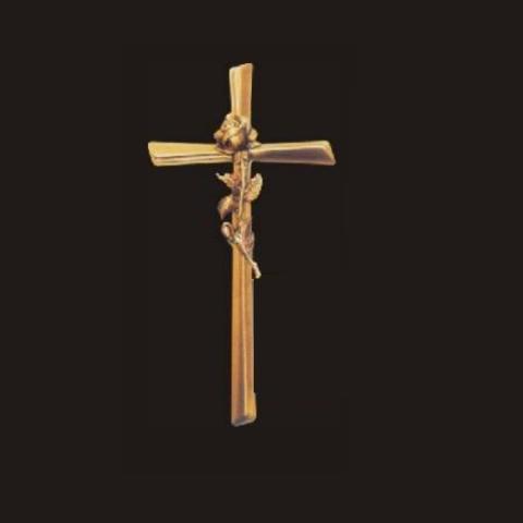 Krzyż z różą 28 cm
