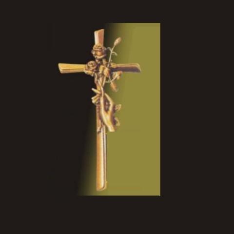 Krzyż rączka z różą 28 cm
