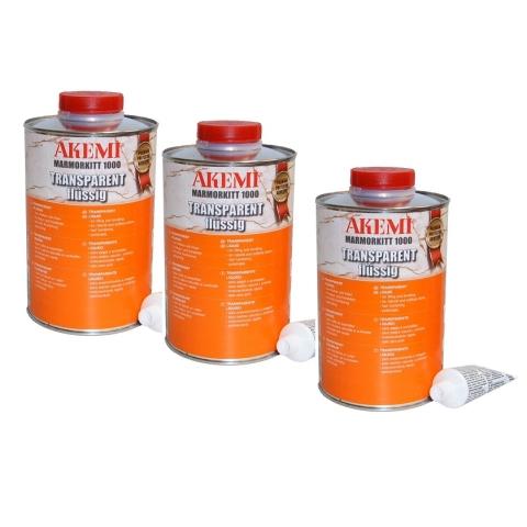 Akemi MK 1000 Transparent L-spezial płynny zestaw 3szt.