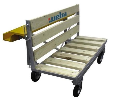 Paleto-wózek do transportu kamienia