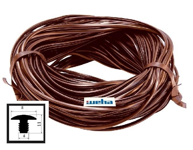 Profil p/poślizgowy gumowy brązowy
